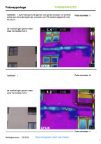 Deel uit een rapportage na een thermografische inspectie