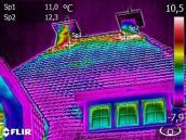 Inspectie van een woning met behulp van een warmtebeeld camera (thermografische inspectie)