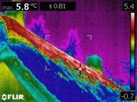 Verlies en tocht in een woning met een rietgedekte kap in beeld gebracht d.m.v. thermografische inspectie