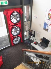 Met een luchtdichtheidstest tonen wij energieverlies in uw gebouw of woningen nauwkeurig aan