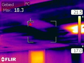 Tocht boven een gipsplafond