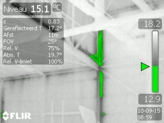 Vocht of schimmel in beeld met thermografie